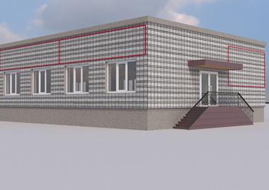 3d визуализация здания